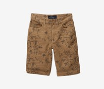Lucky Brand Toddler's Woven Printed Shorts, Ermine