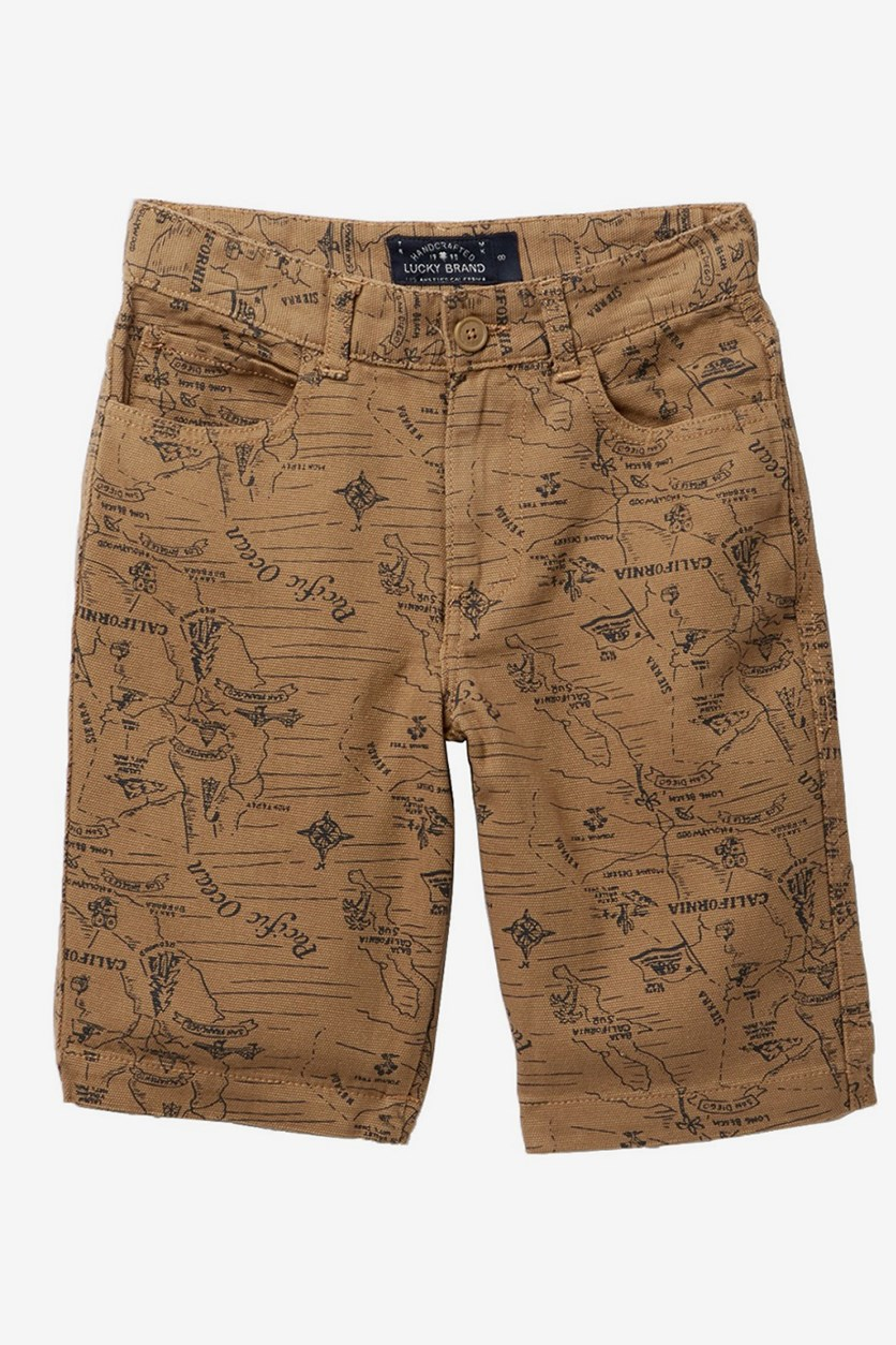 Toddler's Woven Printed Shorts, Ermine