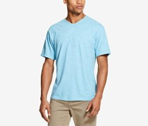 Dkny Men's Twisted Textured Stripe T-Shirt, Water Pool Heather