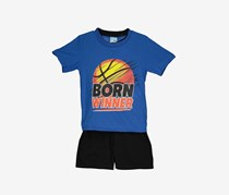 Tuff Guys Boys Born Winner Sleepwear Set, Blue/Black