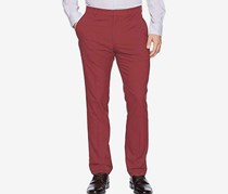 Perry Ellis Men's Portfolio Tech Pant, Oxblood Red