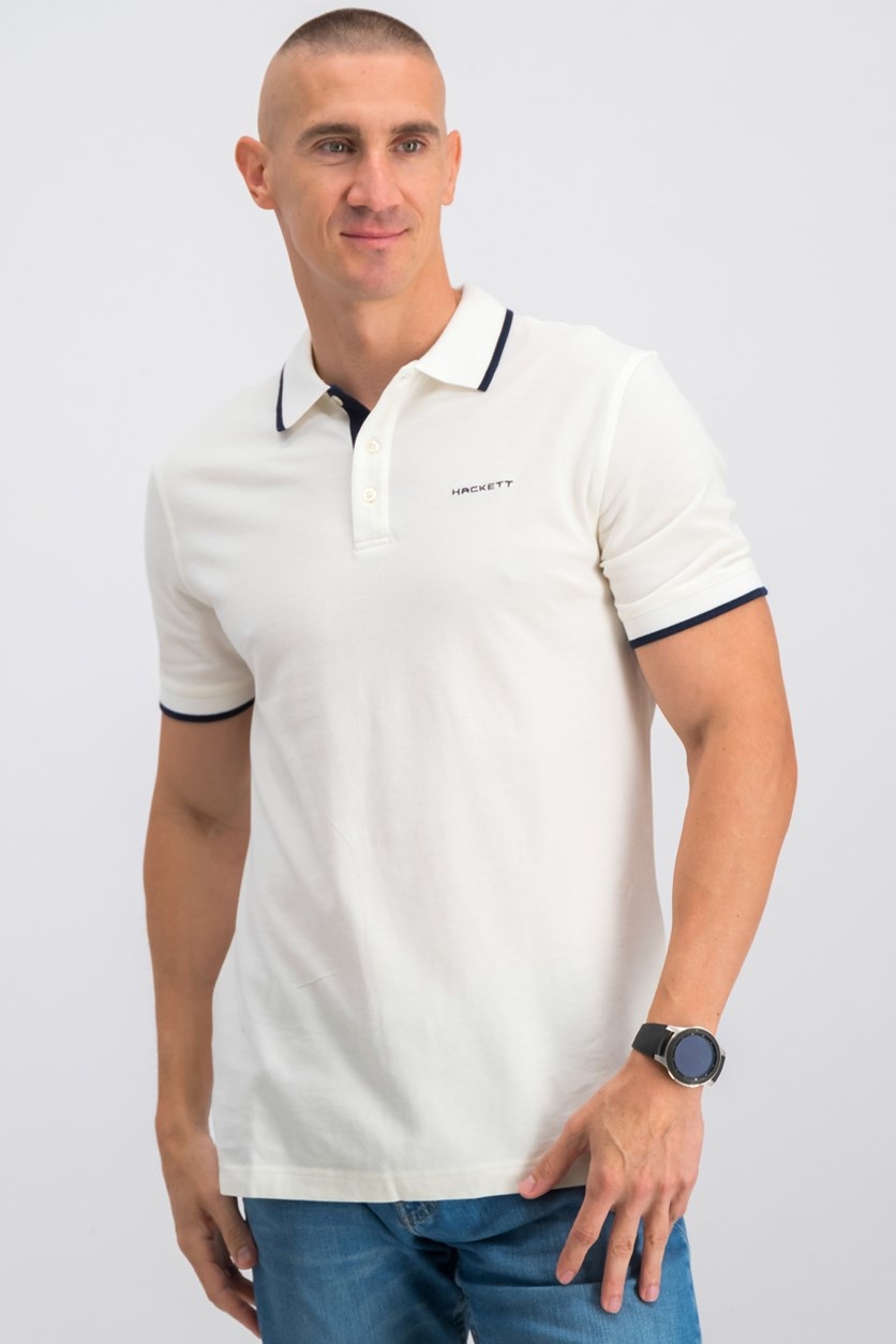 Cotton Piquet Polo, OffWhite