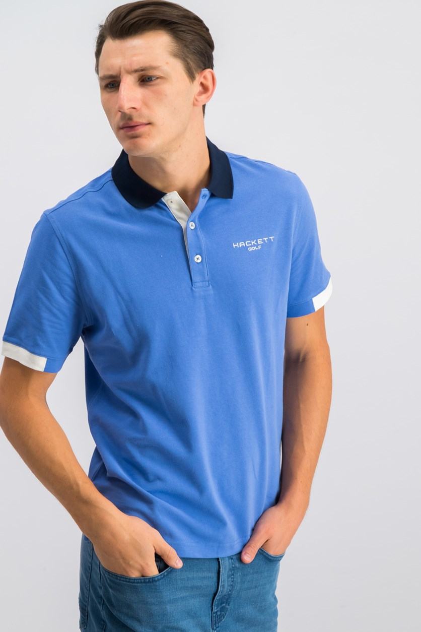 Mens Polo Shirt, Yonder/Atlantic