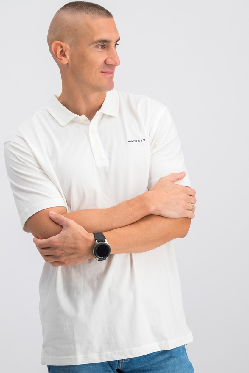 Golf Washed Jersey Polo, White