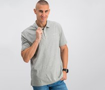Hackett Golf Washed Jersey Polo, Metal Heather