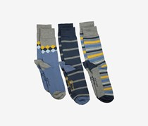 Original Penguin Men's 3-Pack Socks, Grey/Marl/Gold