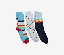 Original Penguin Men's 3-Pack Socks, Light Blue/Navy Combo