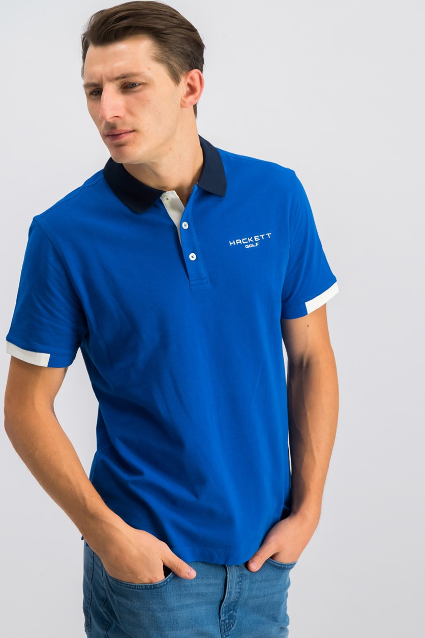 Golf Mens Langley Polo Shirt, Snorkel/Atlantic