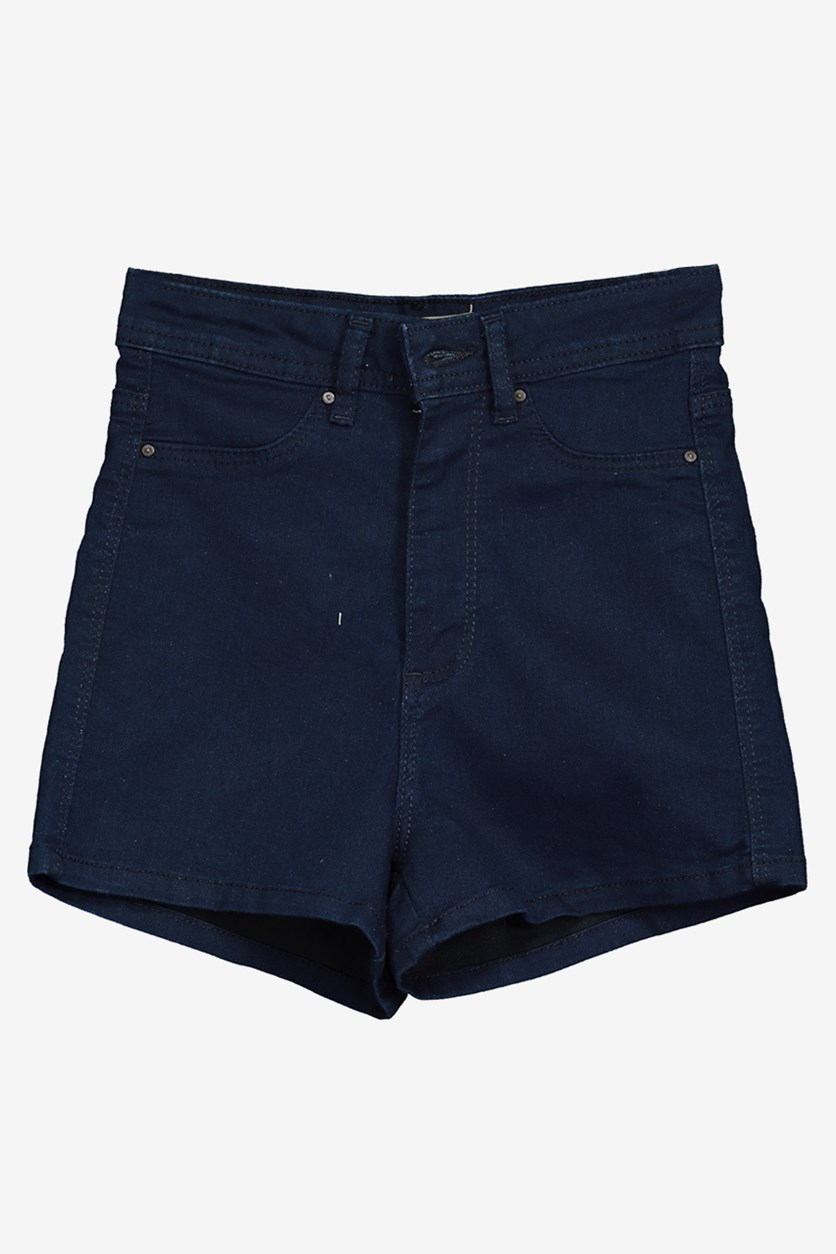 Women's Faux Pocket Short, Navy