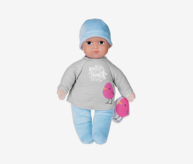 Baby Trendy Boy Doll, Gray/Blue