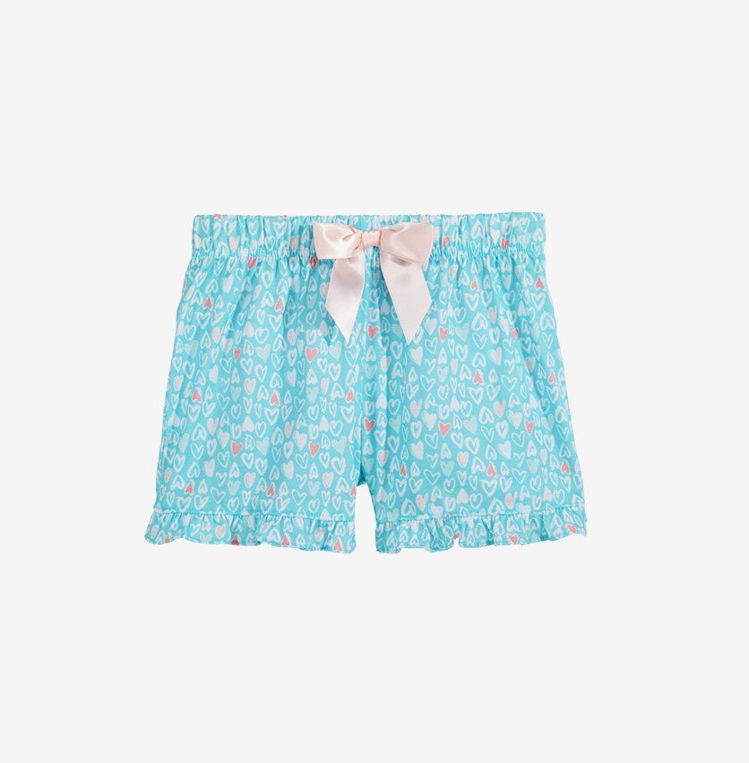 7d1a674add Max & Olivia Graphic-Print Pajama Shorts, Turquoise