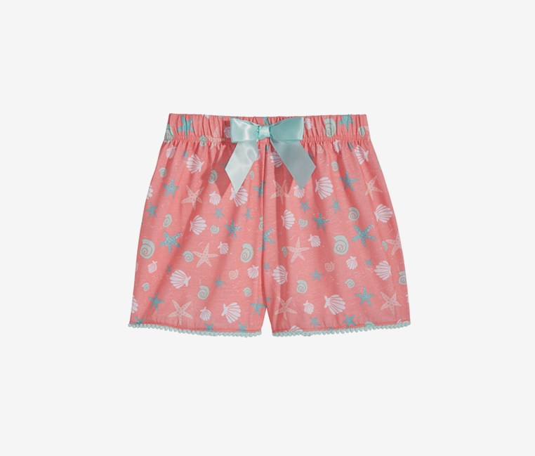 Kids Girls Graphic-Print Sleepwear Shorts, Pink