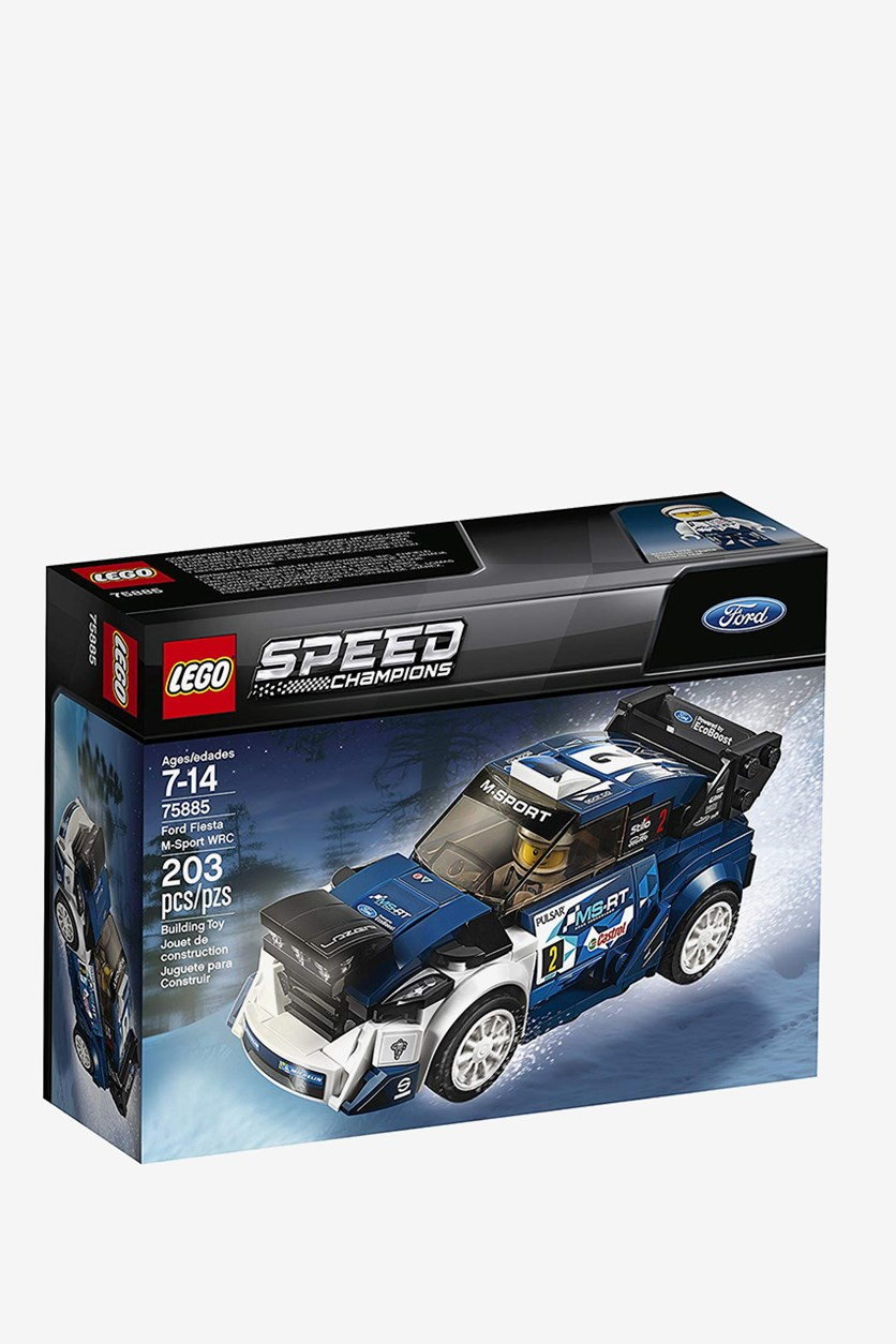 Speed Champions Ford Fiesta M-Sport WRC Building Kit, Blue Combo
