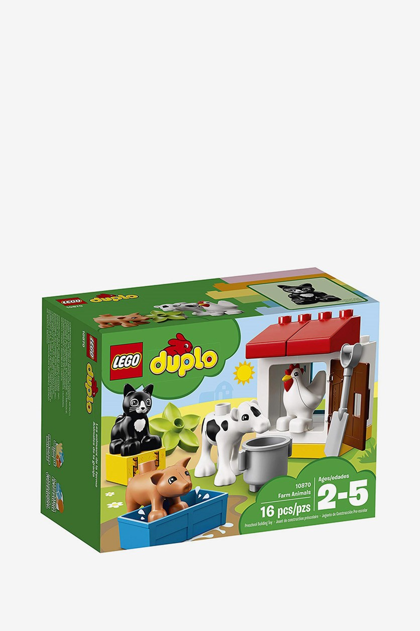 Duplo Farm Animals Building Kit, White Combo