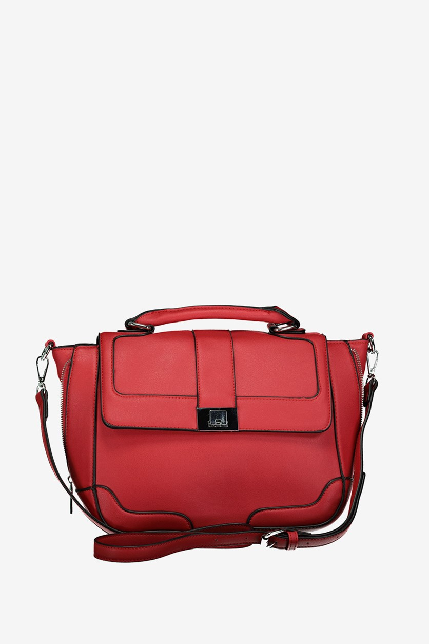 Women's Satchel Bags, Red