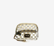 Women Cassie Clear Logo Dome, Clear/Gold