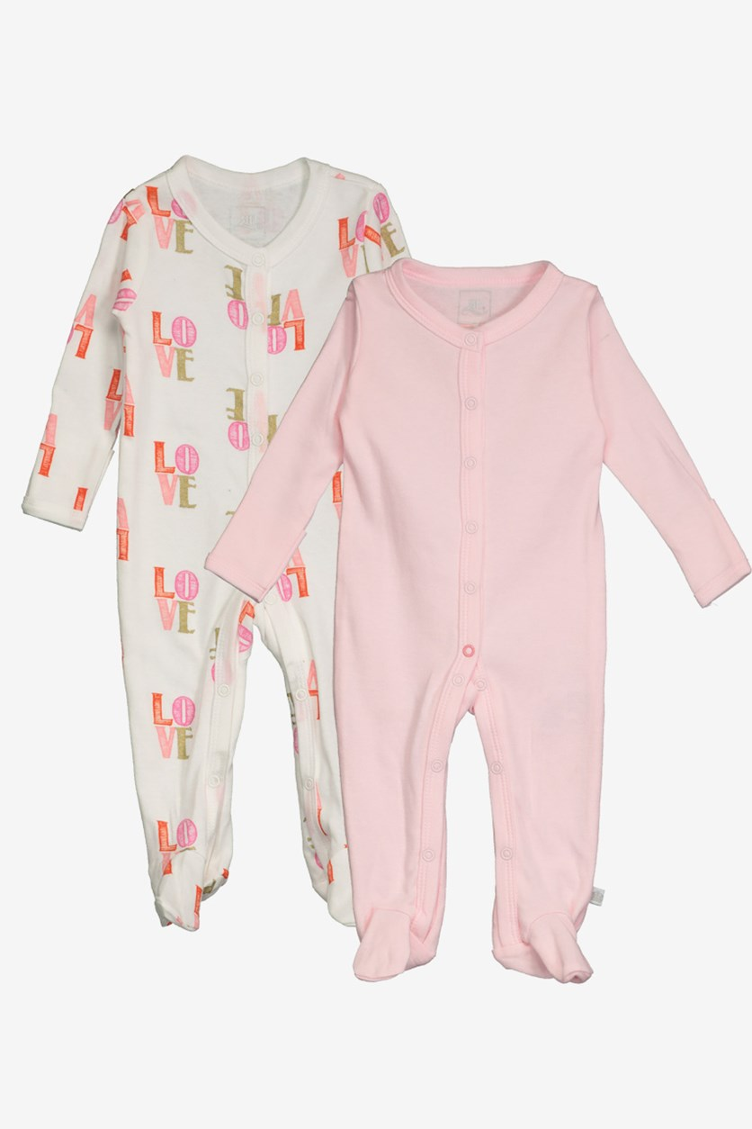 Toddler Set of 2 Love Print, Pink