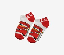 Disney Cars  Mcqueen Ankle Socks, Red/White