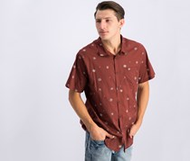 Billabong Mens Printed Shirt, Rum