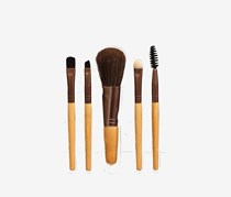 Make Up Brush Set Bamboo Handle, Brown