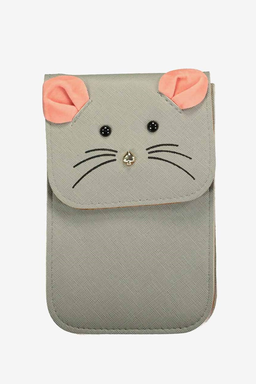 Cute Animal Cell Phone Pouch, Grey