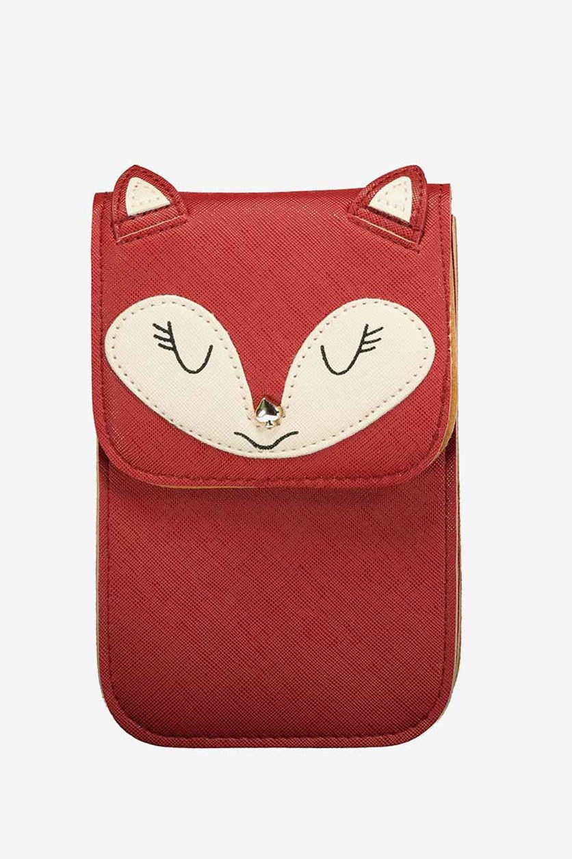 Cute Animal Cell Phone Pouch, Red