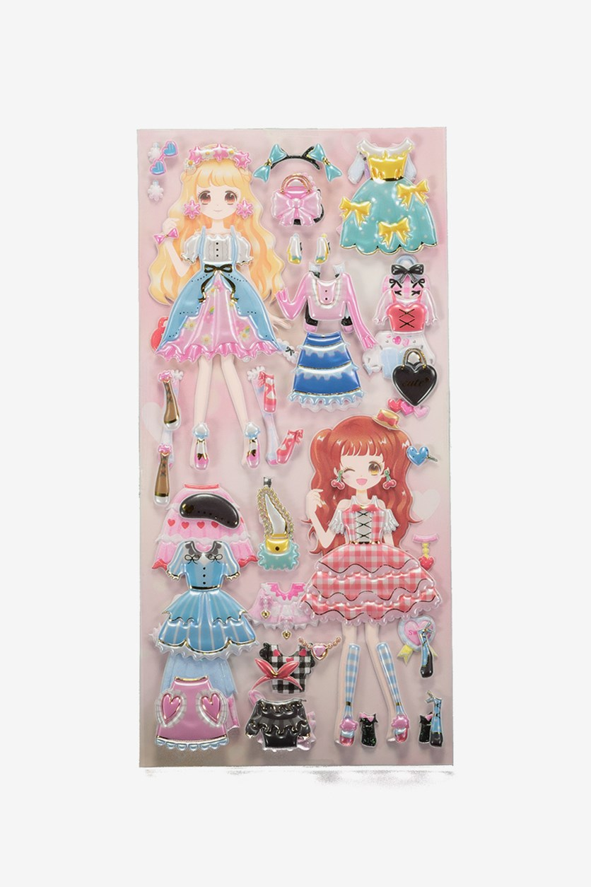 Dream Collection 2 In 1 Stickers, Pink Comb
