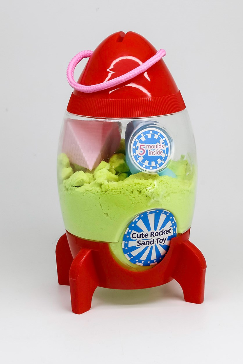 Cute Rocket Sand Toy, Red