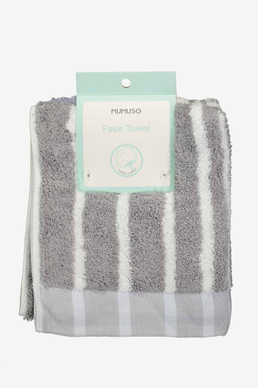 Superthin Colorful Face Towel, Grey/Purple/White