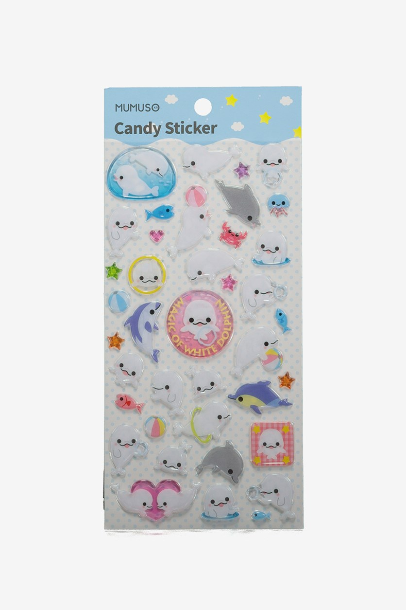 Candy Sticker, White Combo