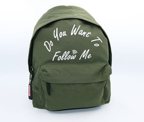 Boy's Letters Backpack, Olive