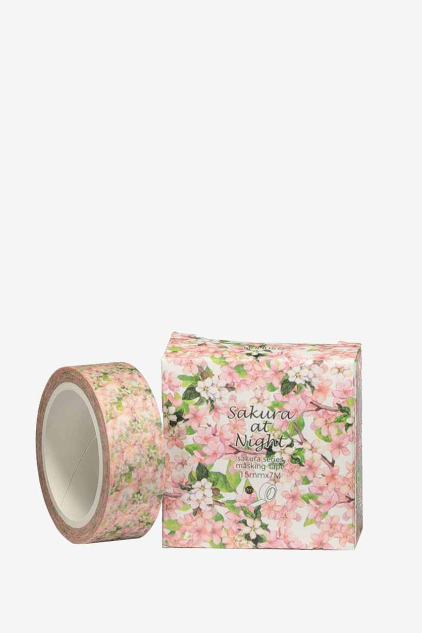 Sakura At Night Masking Tape, Pink