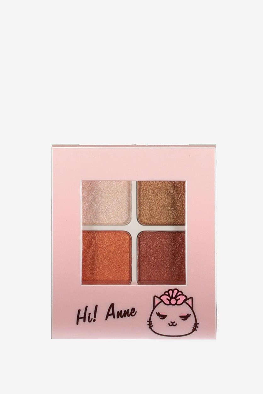 Anne Charming-Eyes Crystal 4-Color Eye Shadow, 1# Grapefruit