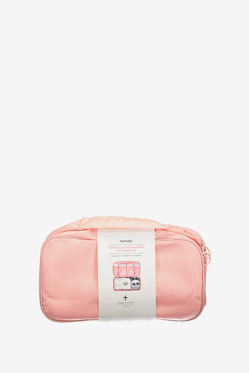 Travel Clothes Packing Storage Bag, Pink