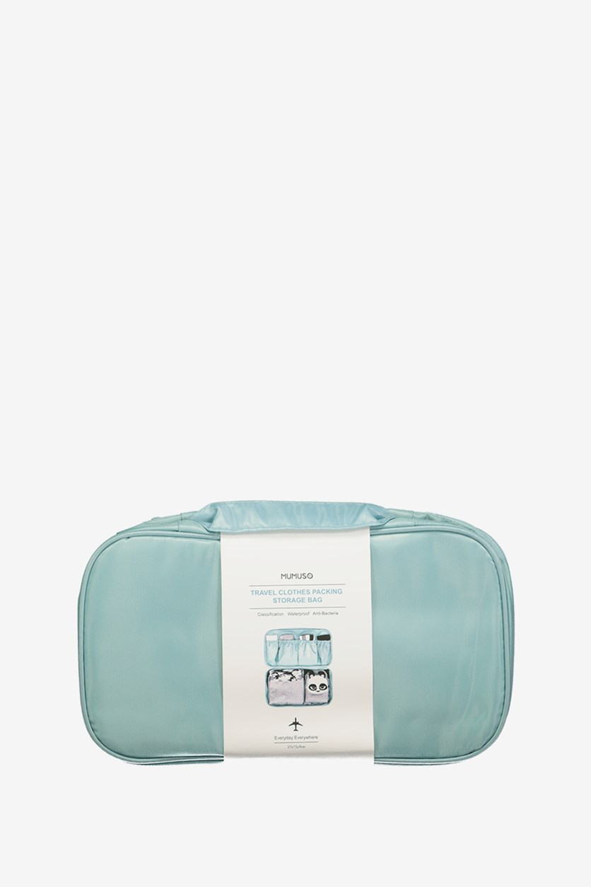 Travel Clothes Packing Storage Bag, Teal Blue
