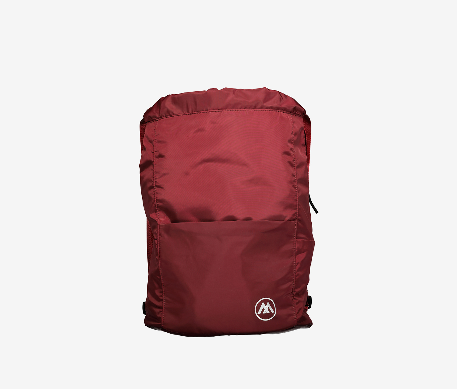 Drawstring Backpack, Maroon