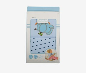 Baby Boys 2 Pcs. Sweat Absorb Towel, Light Blue