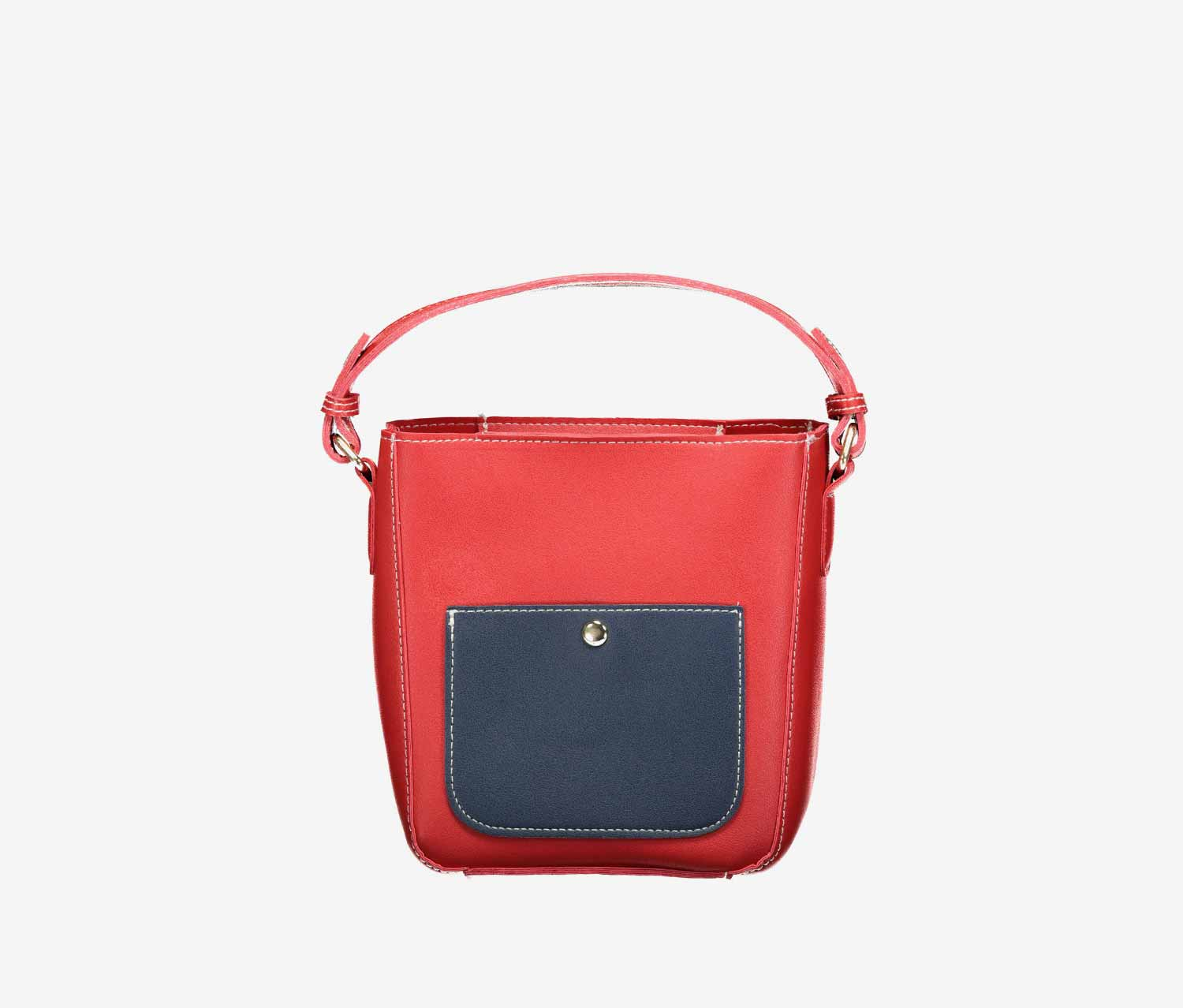 Contrast Color Cross Body Bag, Red