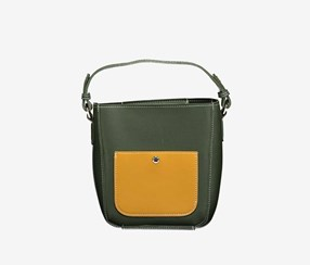Contrast Color Crossbody Bag, Green