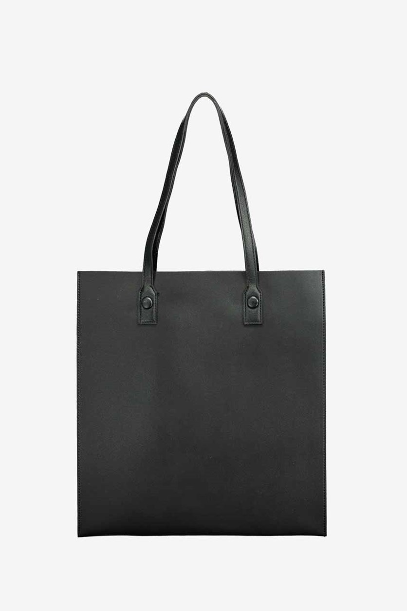 Solid Color Shoulder Bag, Black