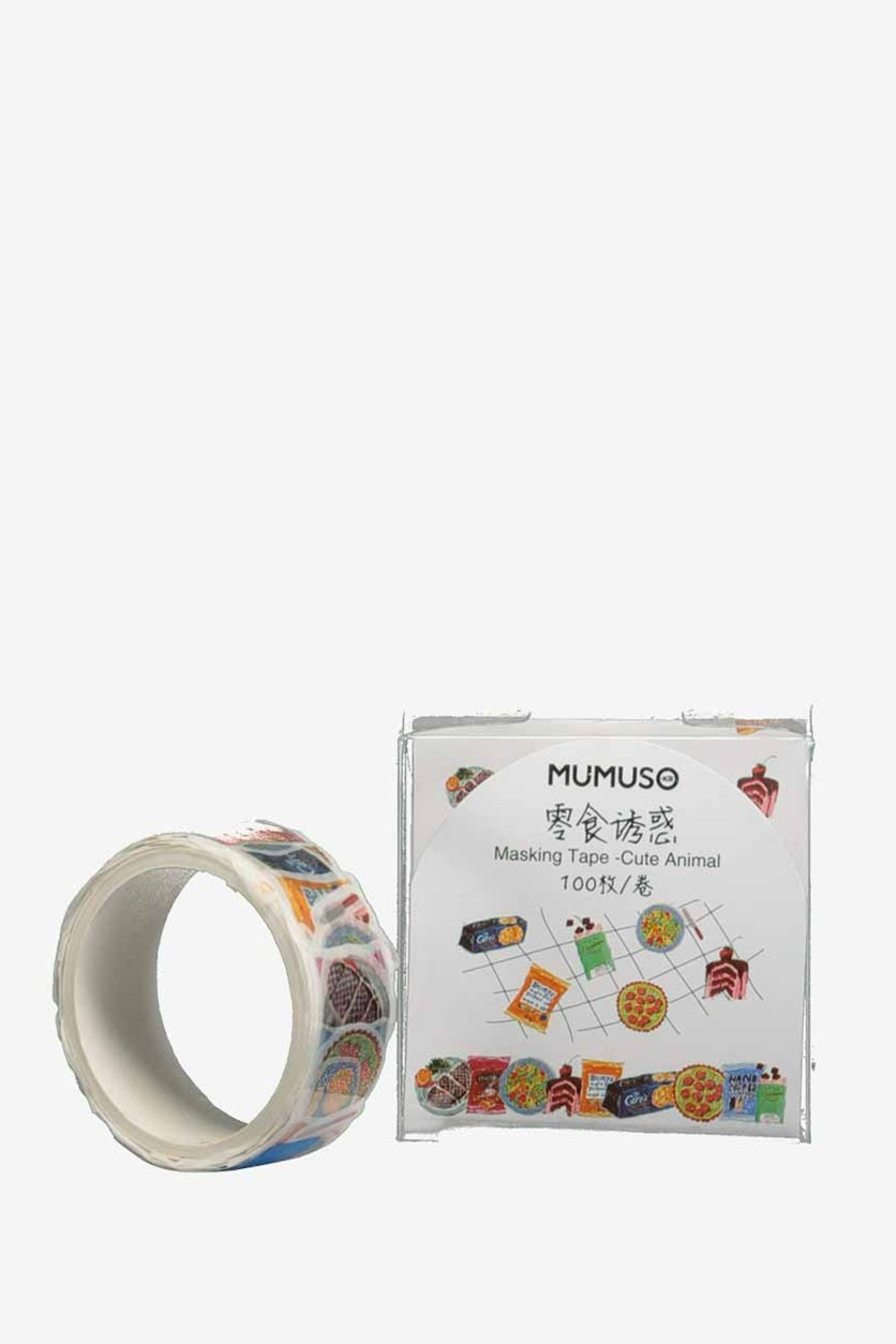 Cute Animal Masking Tape, White Combo