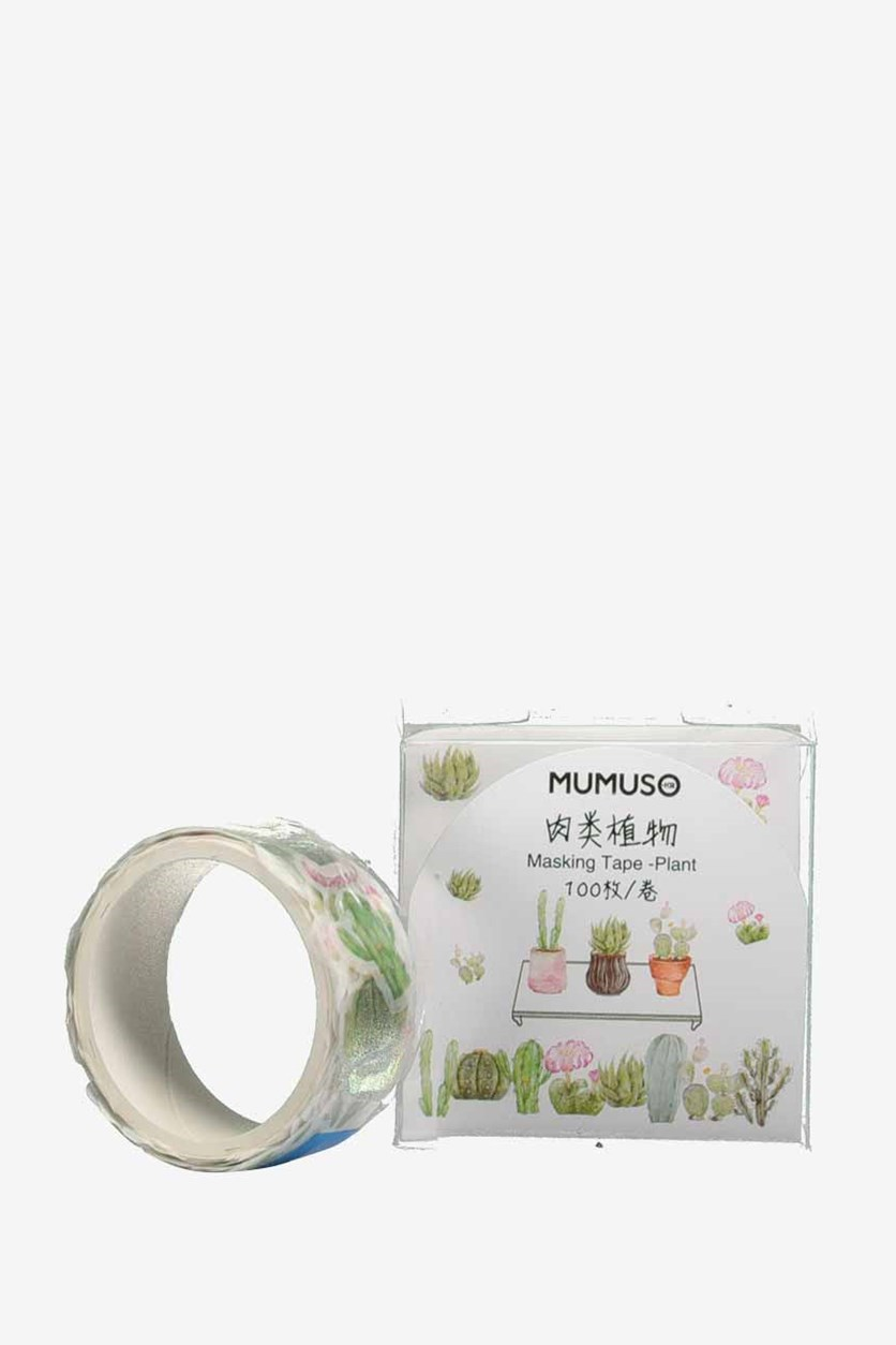 Plant Masking Tape, White/Green