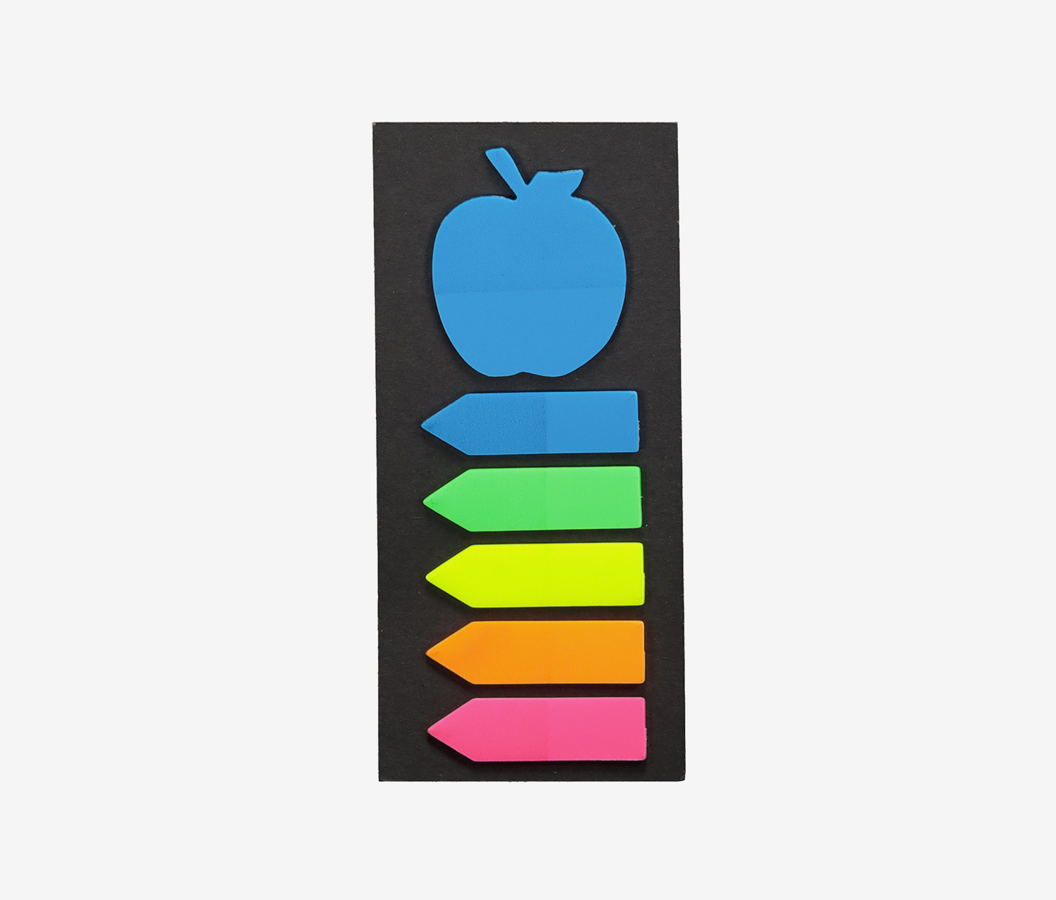 Fluorescent Sticky Note-Apple, Blue Combo