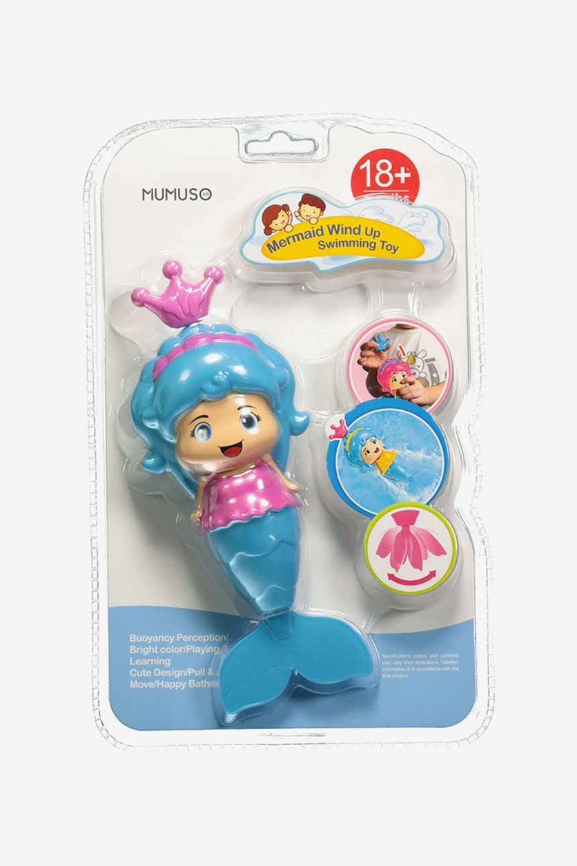 Mermaid Wind Up Swimming Toy, Blue Combo