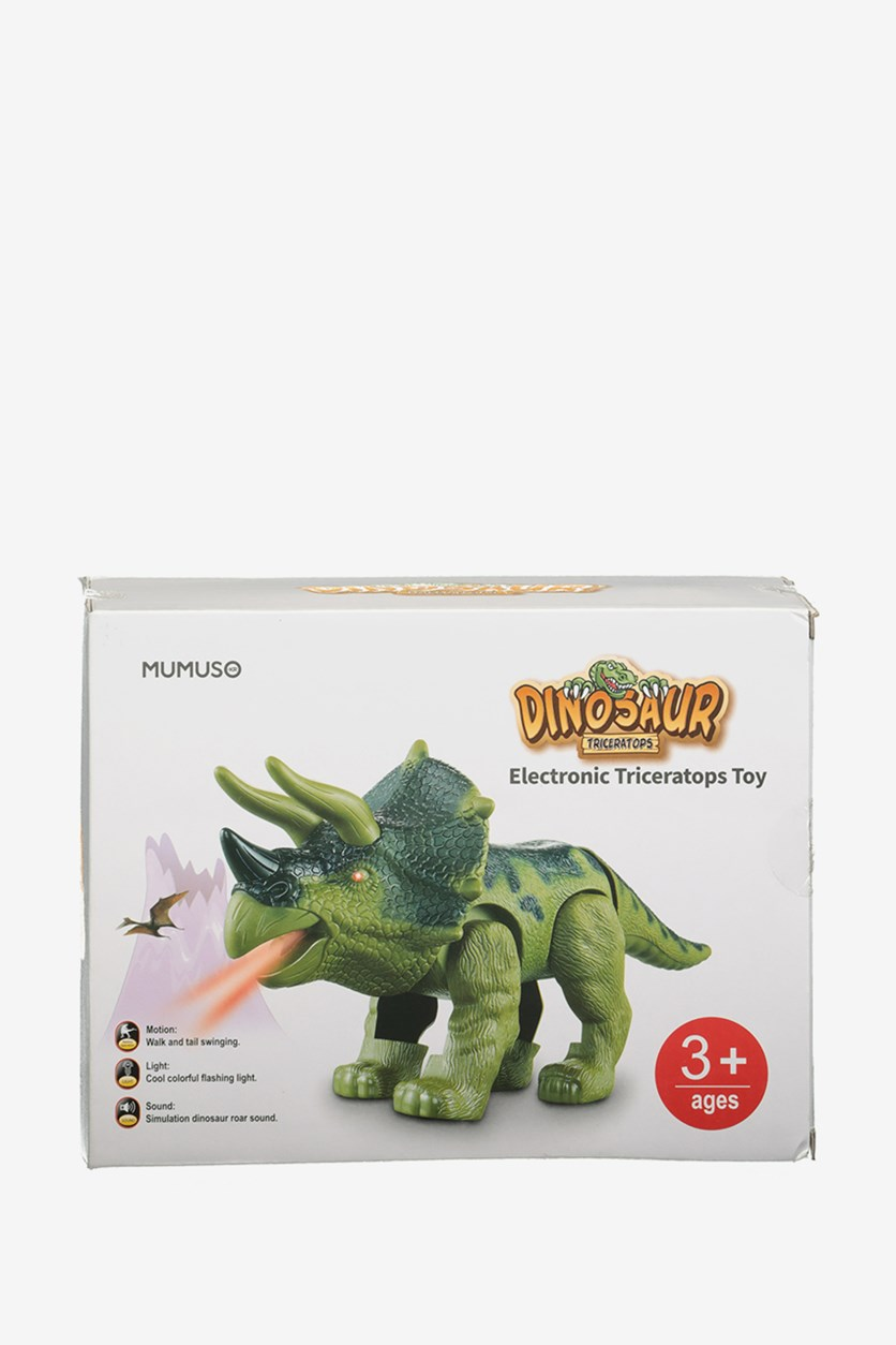 Electronic Triceratops Toy, Green Combo