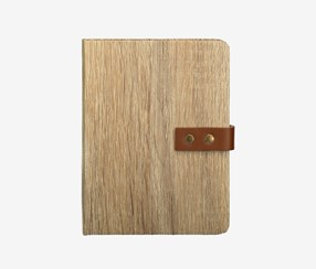Wood Grain Hardcover Notebook, Brown