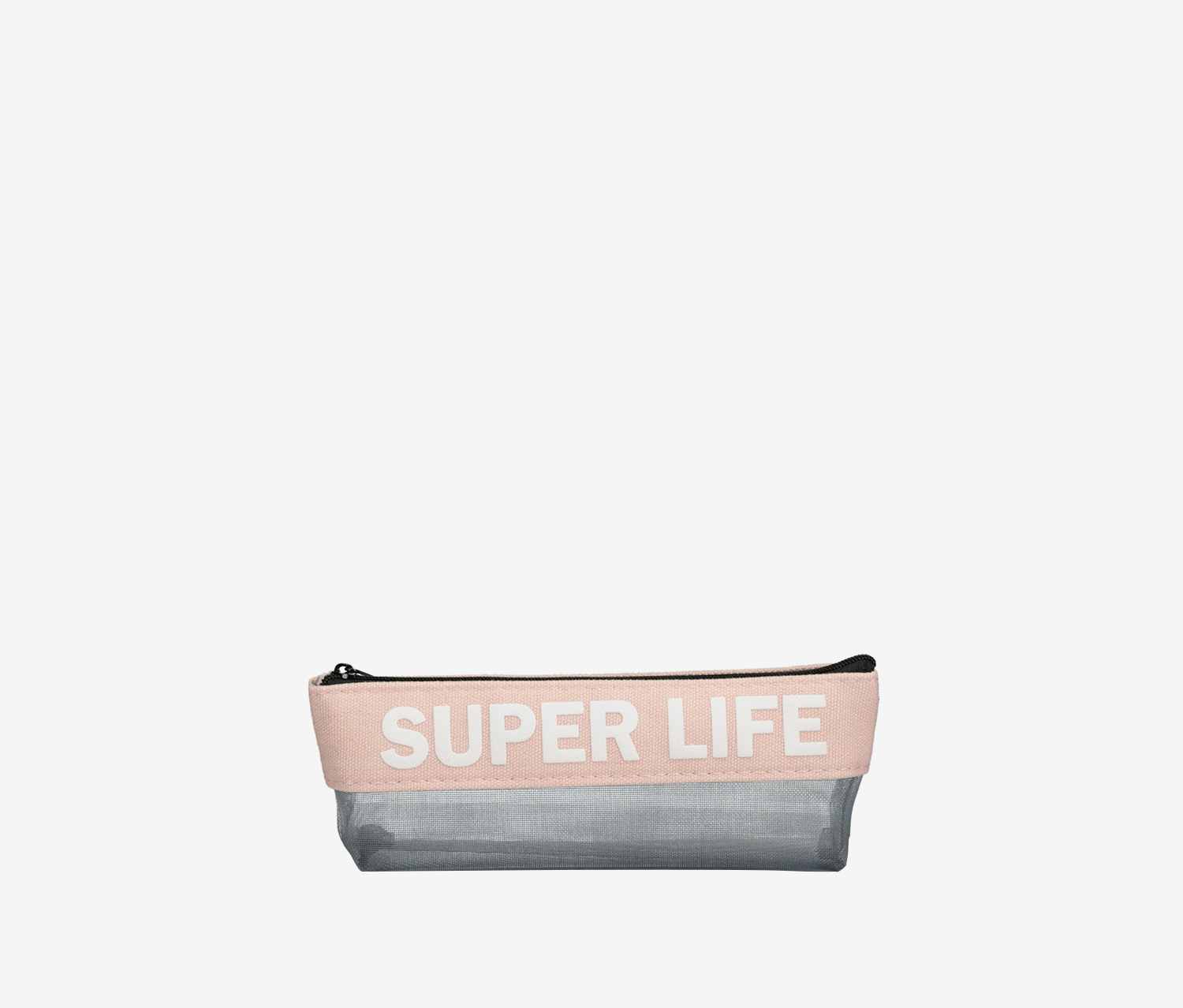 Super Life Triangular Pencil Case, Pink