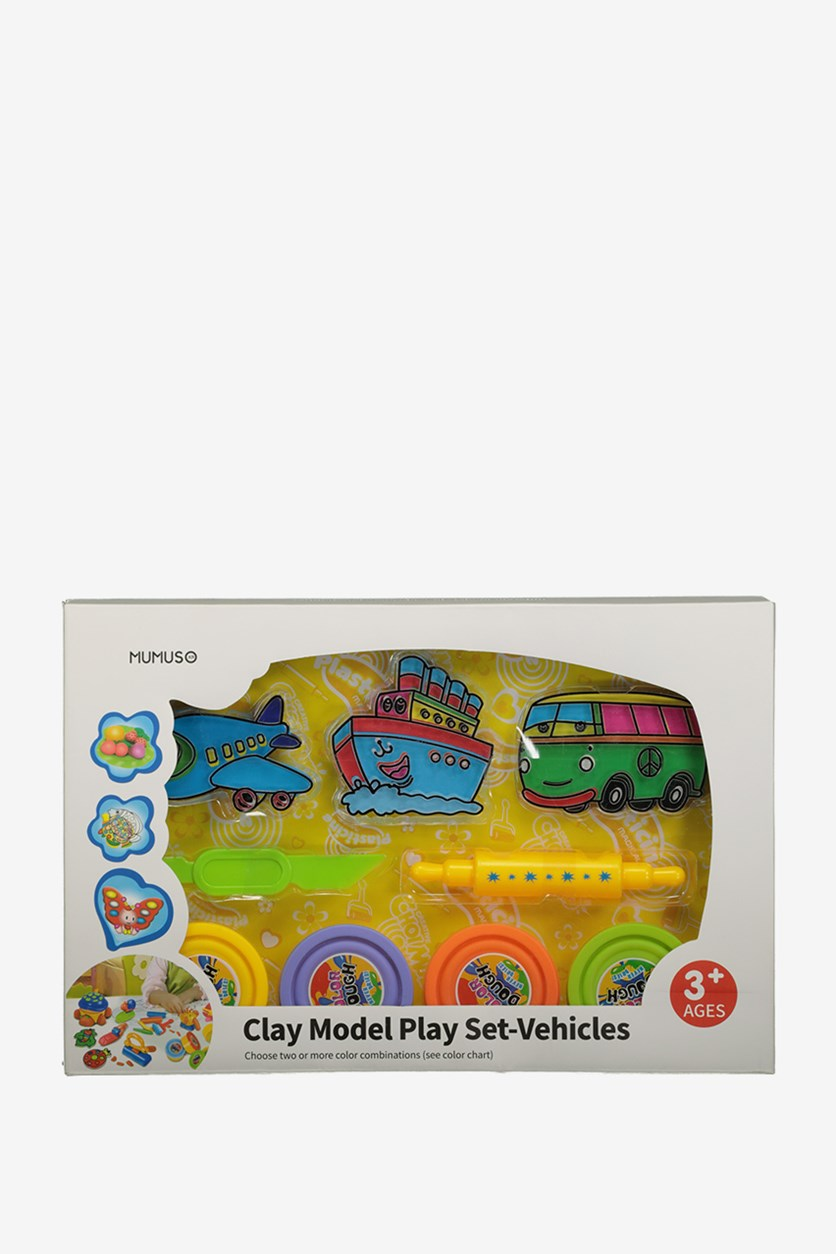 Clay Model Play Set-Vehicles, Blue Combo