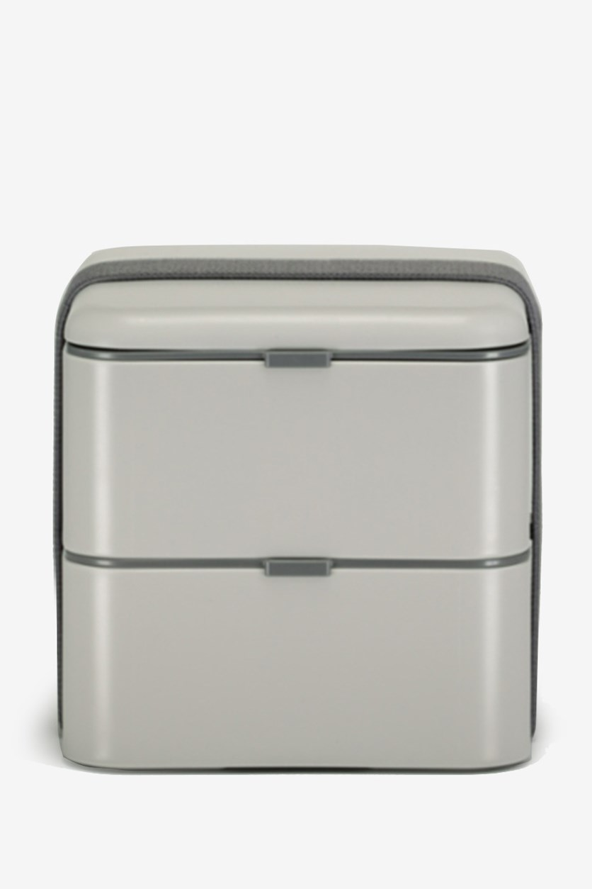 Lunch Box Double Layers, Grey