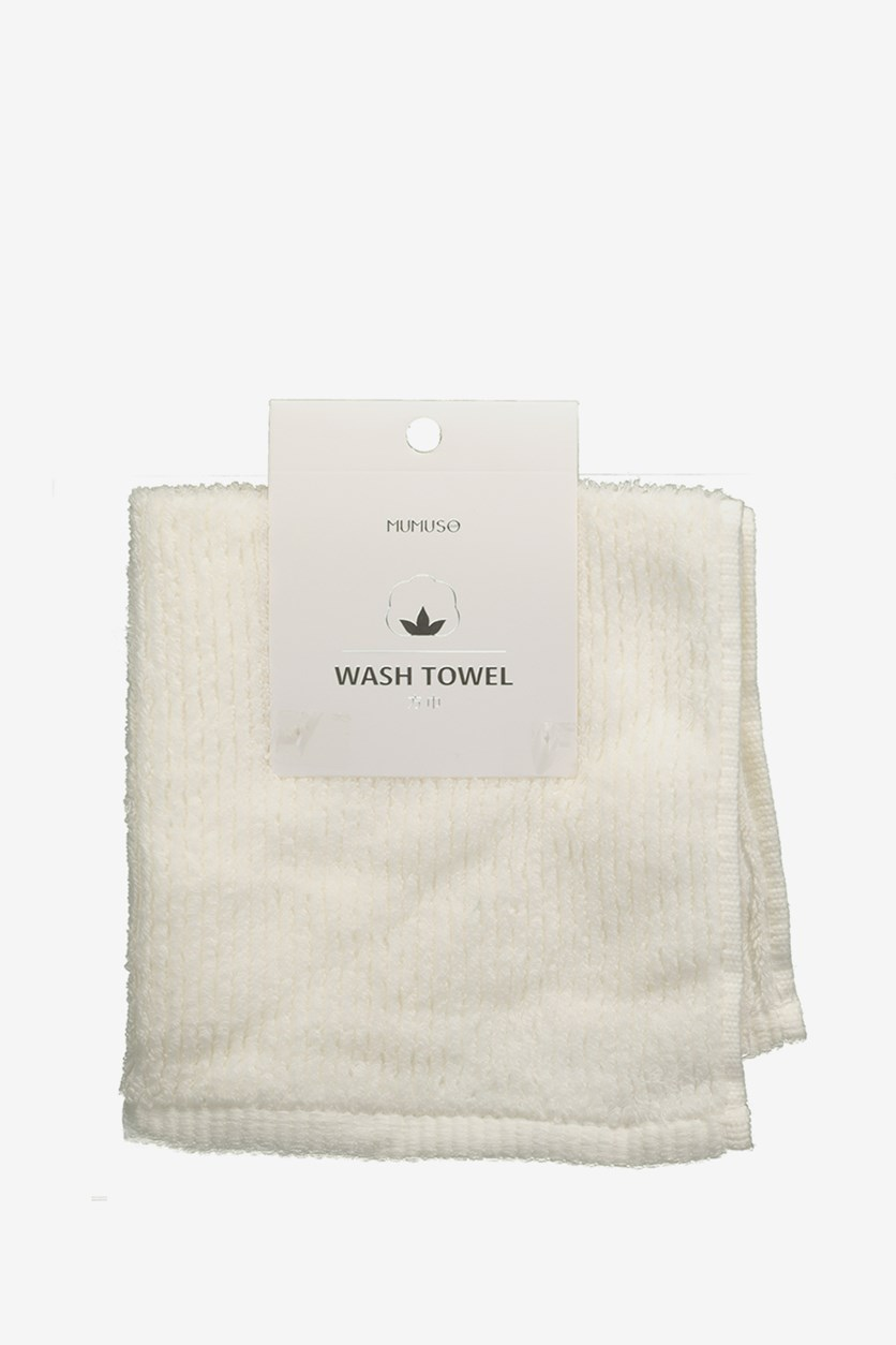 Wash Towel, White